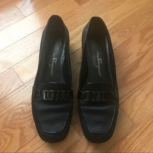 Salvatore Ferragamo Loafers Black Low Heel